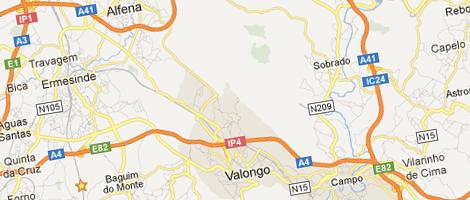 Assistência caldeiras Valongo mapa do google