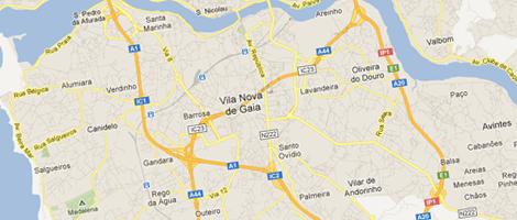 Assistência caldeiras Vila Nova de Gaia mapa do google